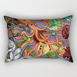 Cryptid Creatures and Mysterious Monsters Rectangular Pillow