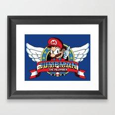 Jumpman the Plumber Framed Art Print