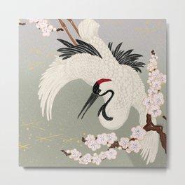 Japanese Crane Metal Print