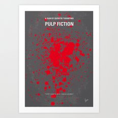 No067 My Pulp Fiction minimal movie poster Art Print