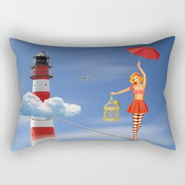 Tightrope dancer, or just flying is better Rectangular Pillow