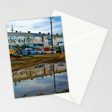 Reflections of Los Angeles graffiti Stationery Cards