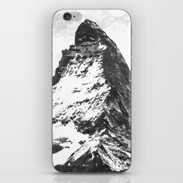 Black and White Mountain iPhone Skin