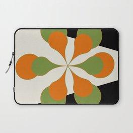 Mid-Century Modern Art 1.4 - Green & Orange Flower Laptop Sleeve