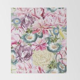 Vintage & Shabby chic -  Retro Spring Flower Pattern Throw Blanket