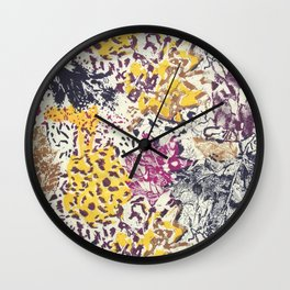 Mimicricy of leaves Wall Clock
