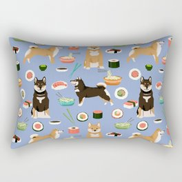 Shiba Inu noodles pho food cute dog art sushi dogs pet portrait pattern Rectangular Pillow
