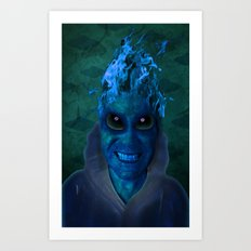BLUE PLANET ALIEN (Us And Them) Art Print