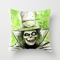 Hat Box Ghost Throw Pillow