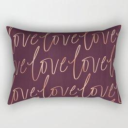 Burgandy Love Rectangular Pillow