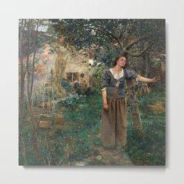 Jules Bastien-Lepage - Johanna von Orleans anagoria Metal Print