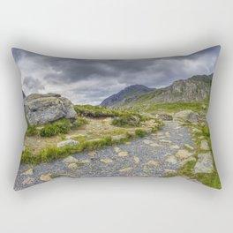 Ramblers Path To Tryfan Rectangular Pillow