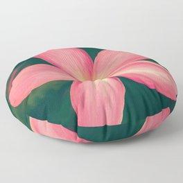 Pink Tropical Flower Floor Pillow
