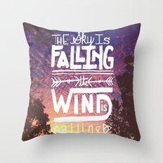 The sky is falling, the wind is calling Throw Pillow