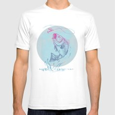 Bass Jumping1 White Mens Fitted Tee MEDIUM
