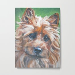 beautiful Australian Terrier dog portrait from an original painting by L.A.Shepard Metal Print