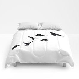 Crows (Black) Comforters