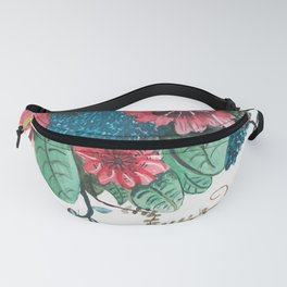 Ruby Botanical 3 Floral Watercolor Fanny Pack