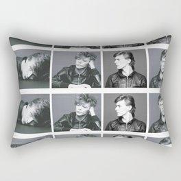 Monochrome Magnificence: Bowie Rectangular Pillow