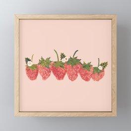 Strawberry Lineup Framed Mini Art Print