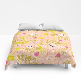 Energizing spring summer flowers Comforters