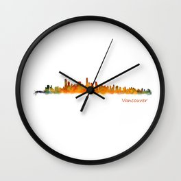 Vancouver Canada City Skyline Hq v01 Wall Clock