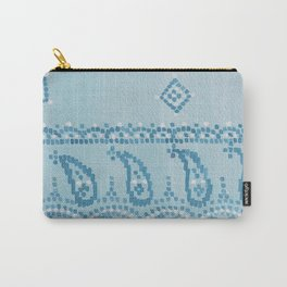Floral Paisley Border Carry-All Pouch