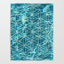 Flower of life in the water Poster