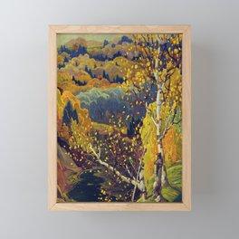 Franklin Carmichael Canadian artist Art Nouveau Post-Impressionism October Gold Framed Mini Art Print