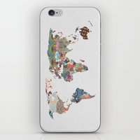 blue iPhone & iPod Skins featuring Louis Armstrong Told Us So by Bianca Green