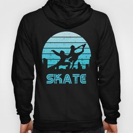 Retro Sunset Figure Skating Pair Hoody