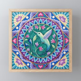 Hummingbird Mandala Framed Mini Art Print