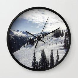 Whistler Mountain Canada  Wall Clock