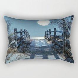 Under The Moonbeams Rectangular Pillow