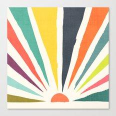 Rainbow ray Canvas Print