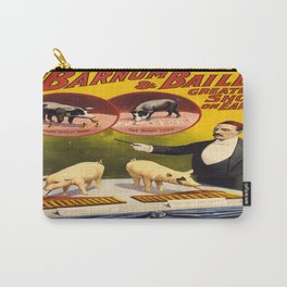 Vintage poster - Trained pigs Carry-All Pouch