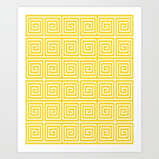 Acropolis 1 Yellow Art Print