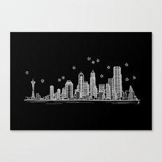 Seattle, Washington City Skyline Canvas Print