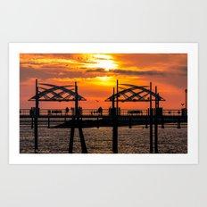California Dreaming - Redondo Beach Pier Art Print