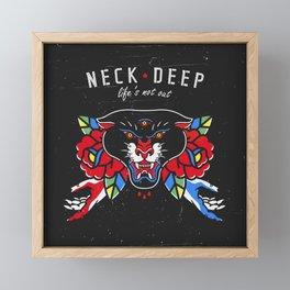 Neck Deep Framed Mini Art Print
