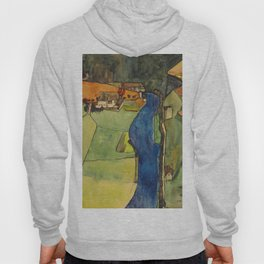 "Egon Schiele ""Stadt am blauen Fluss (Town on the blue river)"" Hoody"