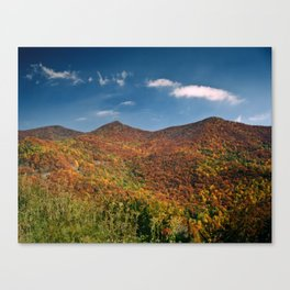 Autumn on the Mountains of the Parkway Canvas Print