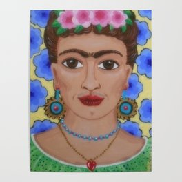 My Lovely Frida, by Soozie Wray Poster