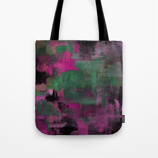 Deep Purple - Abstract, textured painting Tote Bag