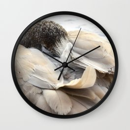 Young Trumpeter Swan by Teresa Thompson Wall Clock