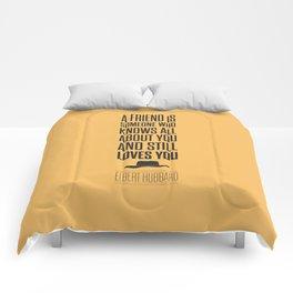 Lab No. 4 - Elbert Hubbard American Writer Motivational Typography Quotes Poster Comforters