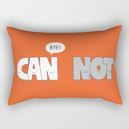 Focus on what you can do, not on what you can't Rectangular Pillow