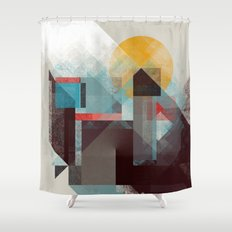 Over mountains Shower Curtain