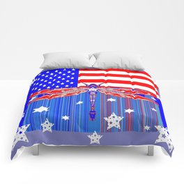 Red-White & Blue 4th of July Celebration Art Comforters