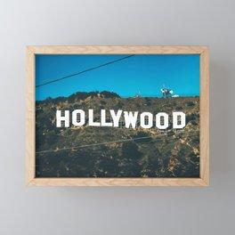 The Hollywood Sign Framed Mini Art Print